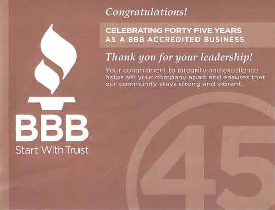 Garrett BBB Certificate